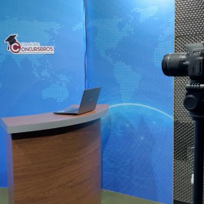 Mais uma visão do estúdio de gravação de Videoaulas.