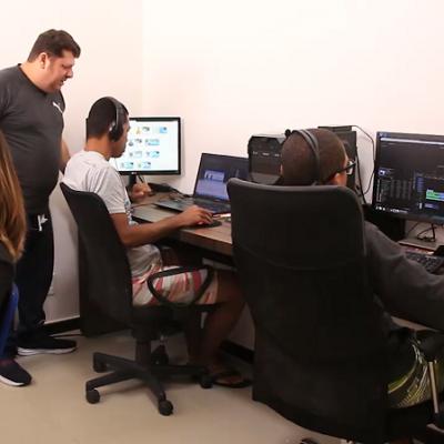 Sala de Produção de Conteúdos e Edição de Videoaulas do Canal dos Concurseiros.
